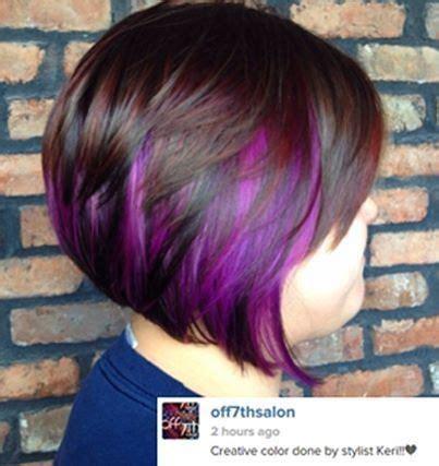hair highlights bottom 25 best ideas about purple highlights underneath on