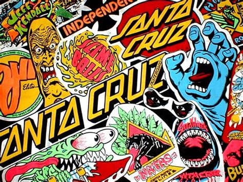 santa cruz logo wallpaper google search skateboard art