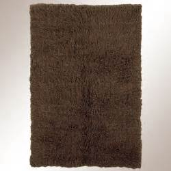 cocoa brown flokati wool shag area rugs