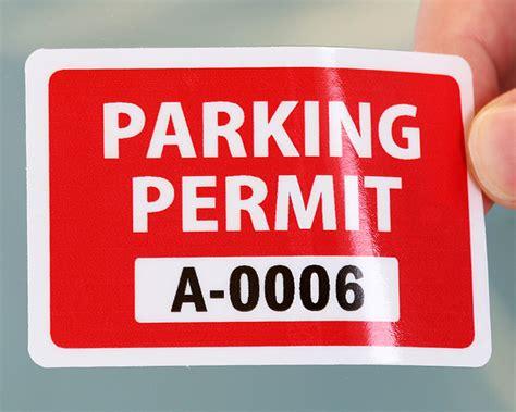 Parking Permit Stickers parking decals gallery