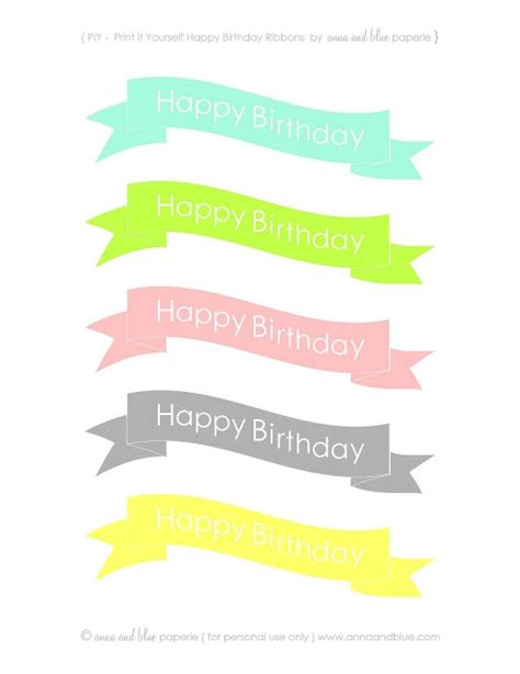 free printable mini happy birthday banner 236 best free mini cake bunting printable images on