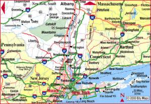 Map Of New York Highways by Highway Map Of New York State South Aaccessmaps Com