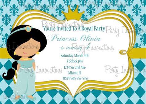 printable princess jasmine thank you cards printable princess jasmine birthday party invitation plus