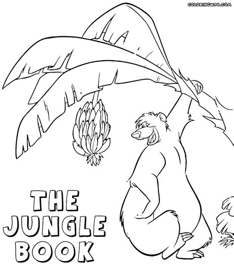 coloring book page jungle book coloring pages coloring pages to