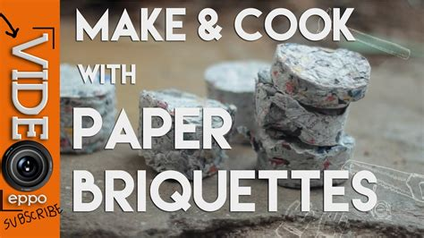 How To Make Paper Briquettes - and cooking with paper briquettes