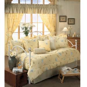 Anthology Bungalow Comforter Laura Yellow Floral 5 Piece Twin Daybed Set