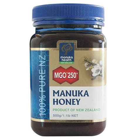 Manuka Health Honey Mgo 100 500gr manuka honey mgo 250 in 500g from manuka health