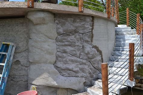hometalk diy carved vertical concrete retaining wall