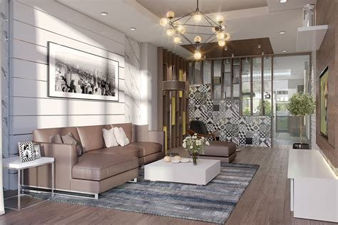 the side of 3 neutral color living room designs