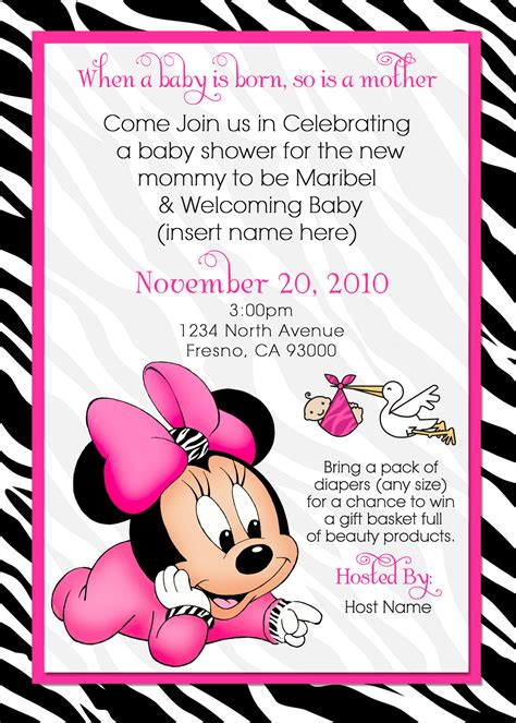 minnie mouse baby shower invitations templates printable minnie mouse baby shower invites just b cause