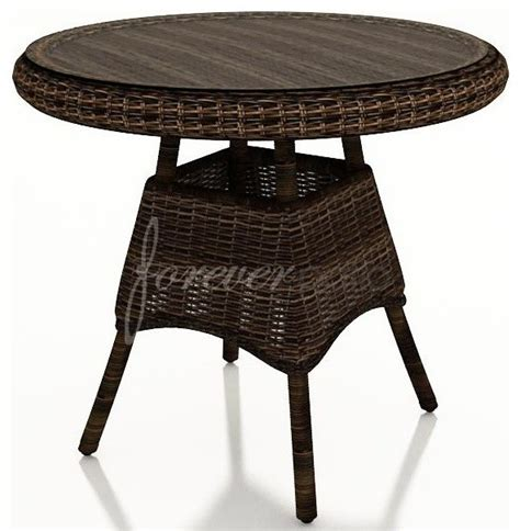wicker forever patio leona 30 quot dining table with