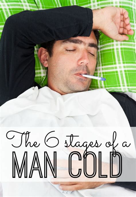 Man Flu Meme - the 6 stages of a man cold