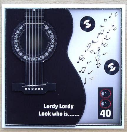 Printable Birthday Cards With Guitars | black guitar 40th birthday qs cup588298 262 craftsuprint