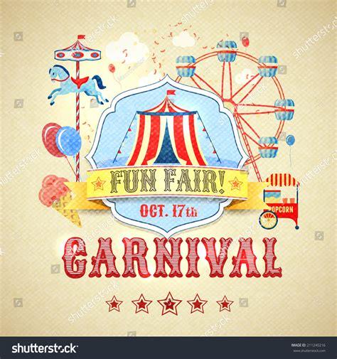 theme park advertisement vintage carnival fun fair theme park advertising poster