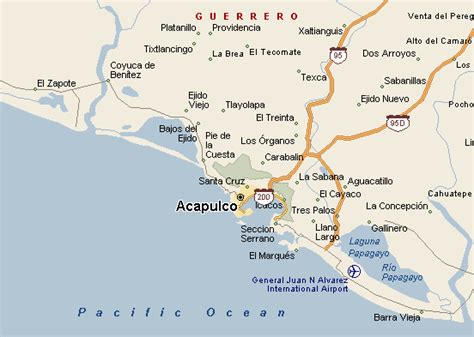 map of mexico acapulco acapulco mexico map car interior design