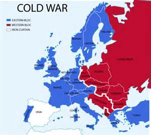 Cold War World Map by 1940 S Dcam Cold War