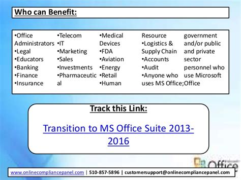 transition to ms office suite 2013 2016