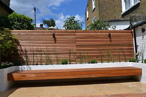 raised garden bed with bench seating hardwood screen trellis raised beds and floating bench