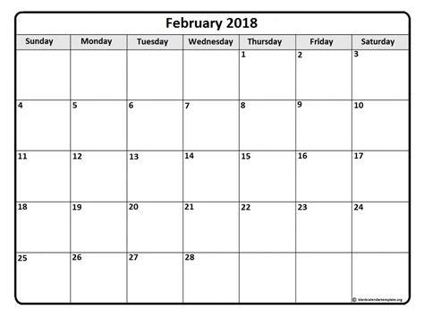 printable monthly calendar february 2018 february 2018 calendar february 2018 calendar printable
