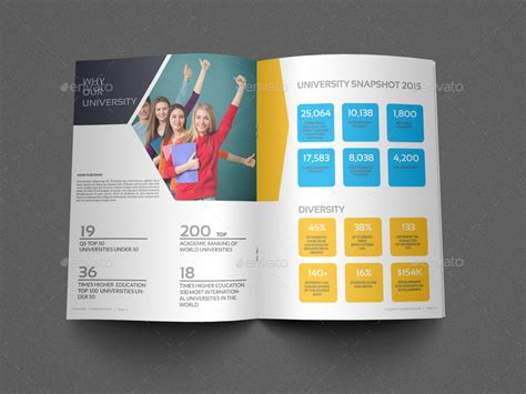 college brochure templates college brochure template 16 pages by