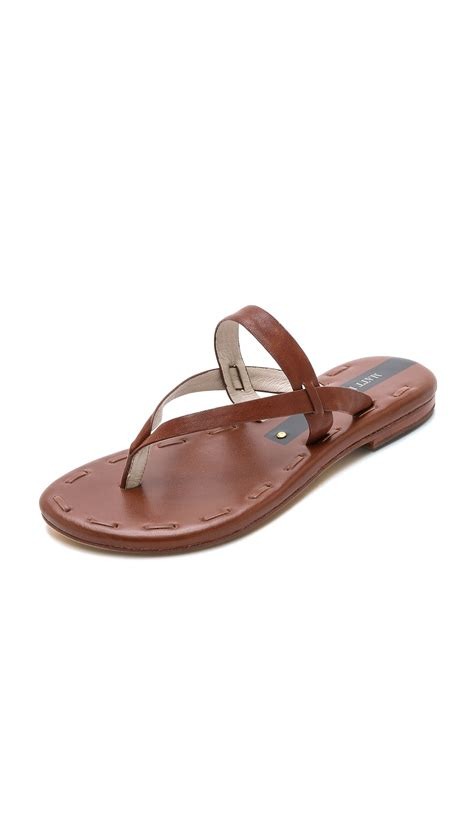 matt bernson sandals matt bernson sandals black in brown bourbon lyst