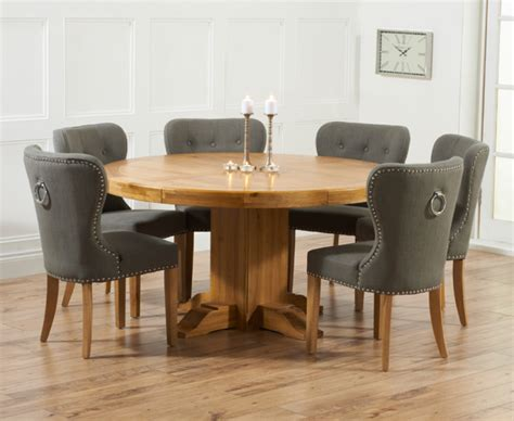 Solid Oak Dining Room Set by Torino 150cm Solid Oak Round Pedestal Dining Table With