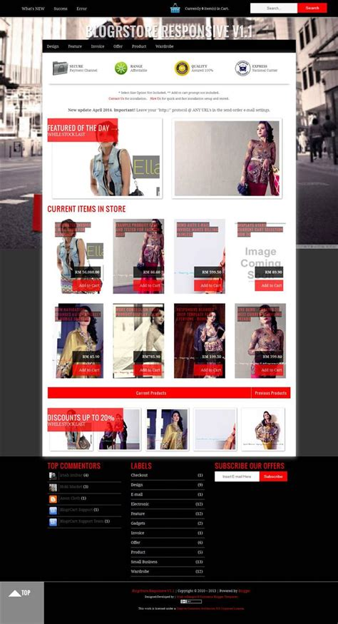 templates para blogger de moda top 10 templates de loja virtual para blogspot template x