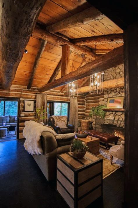 log home interior decorating ideas top 60 best log cabin interior design ideas mountain