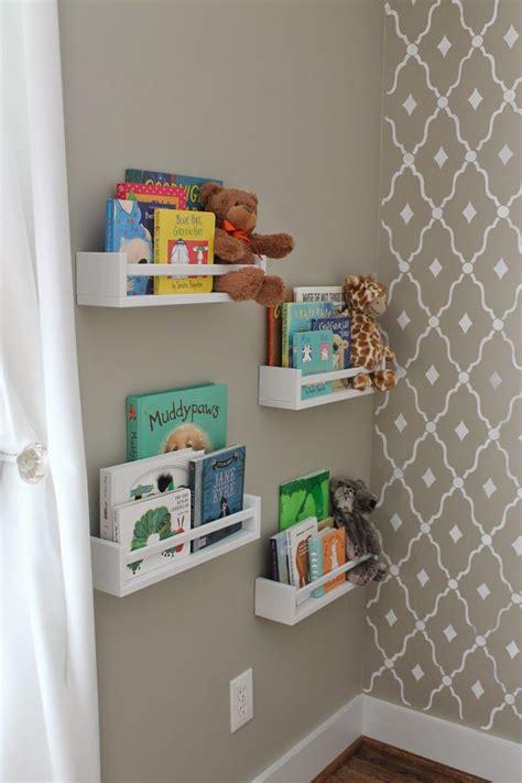 ikea spice racks used as bookshelves nursery inspiration