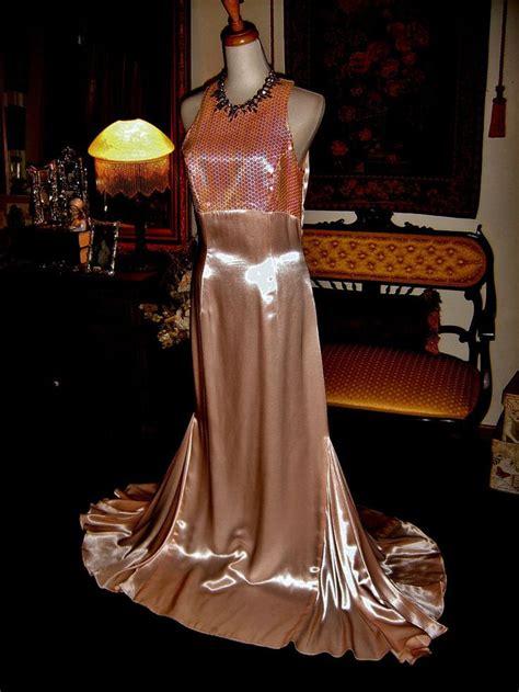 Glossy Dress loralie sweep high gloss liquid satin pageant formal