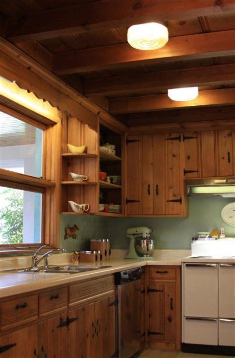 knotty pine kitchen cabinets pinterest