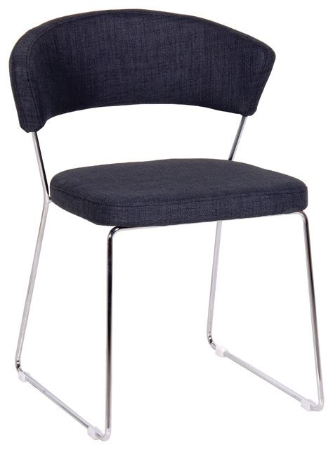 cleminie contemporary metal frame chair modern dining