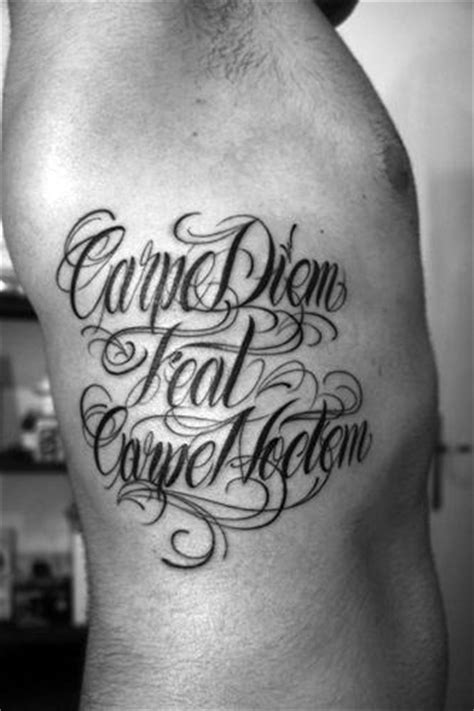 carpe noctem tattoo 70 carpe diem designs for seize the day ink ideas