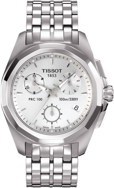 t008 217 11 031 00 prc 100 chrono silver steel bracelet quartz