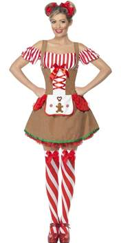 Gingerbread woman costume 23053 fancy dress ball