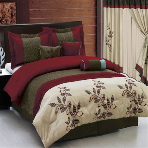 bed in a bag with matching curtains pasadena burgundy 11 piece bed in a bag matching