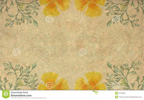 Vintage Yellow vintage yellow flower background stock illustration image 27722601