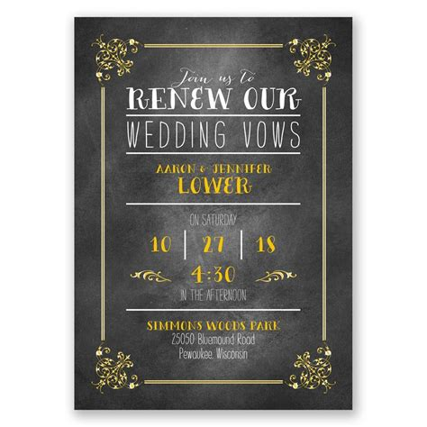 Wedding Vows Border pretty borders vow renewal invitation invitations by
