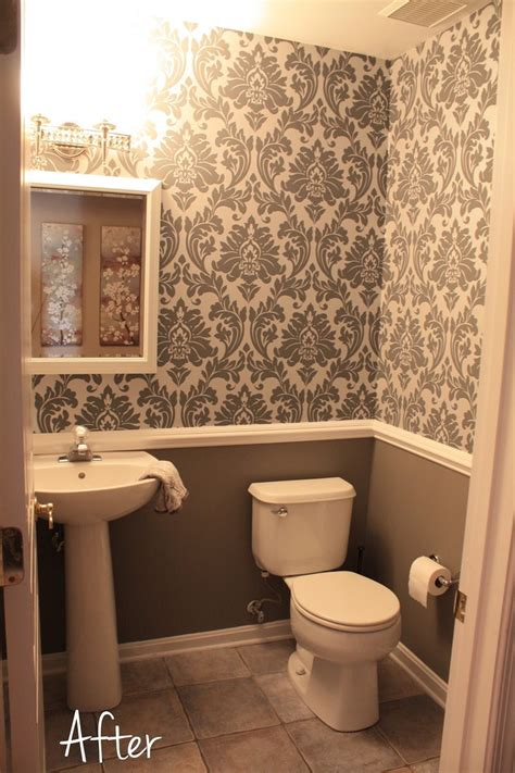 fancy bathroom bathrooms with wallpaper dgmagnets com