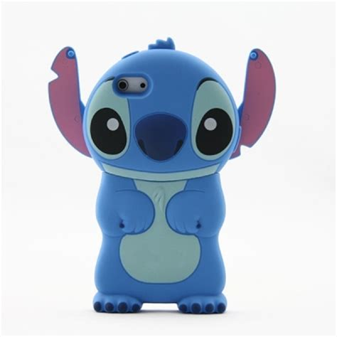 Iphone 4 4s Silicone 3d Stitch Cover Casing Bumper Armor new fashion 3d blue stitch movable ear flip silicone