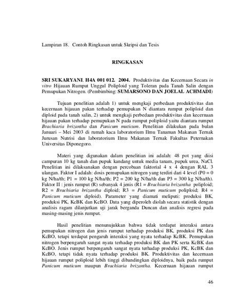 format penulisan dalam skripsi contoh liran karya ilmiah mahasiswa peternakan undip