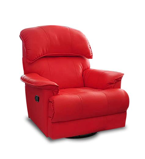 red recliner livo recliner automatic in red colour by little nap