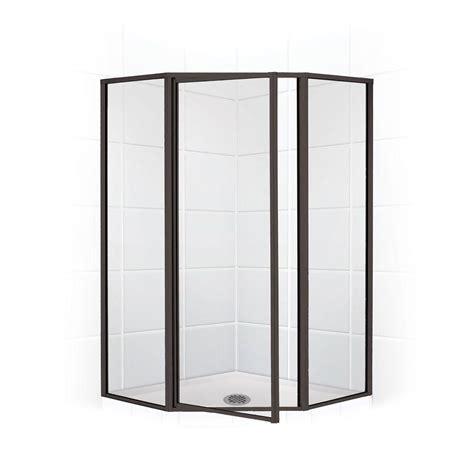 Swing Shower Doors Coastal Shower Doors Legend Series 59 In X 70 In Framed Neo Angle Swing Shower Door In