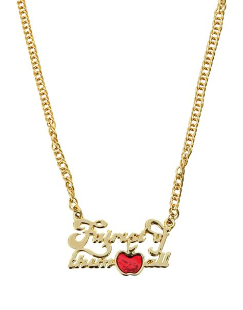 Snow White Necklace Snow White Portrait disney couture gold plated snow white fairest of them all necklace ebay