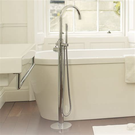 Floor Mounted Tub Faucet by Single Floor Mounted Thermostatic Tub Shower Faucet