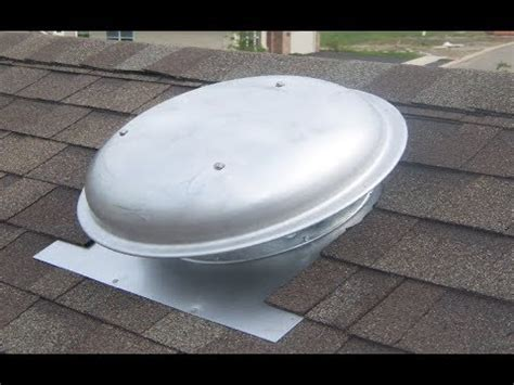 roof mounted exhaust fans residential installing a roof top attic fan