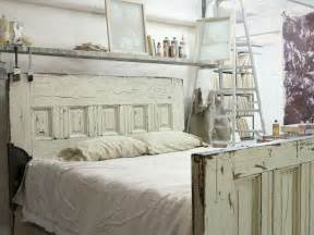 Retro Bed Frames Wood Items Similar To Sized Reclaimed Wooden Door Bed