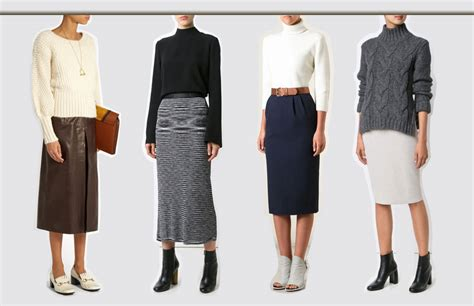 different types of tops to wear with a pencil skirt this 2017