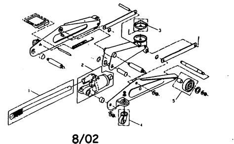 floor l replacement parts lazzar s floor jack hydraulic cylinder repair part