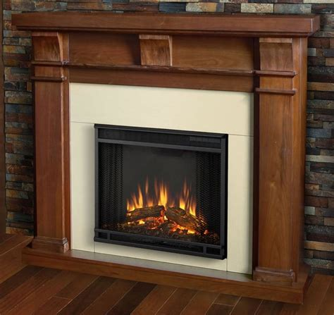 Walnut Electric Fireplace by Electric Fireplace In Walnut Finish Traditional Indoor